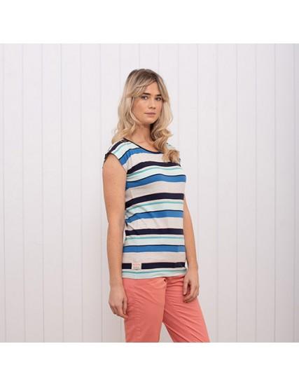 dámské tričko pruhované modré BRAKEBURN