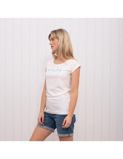 dámské tričko s kaktusy bílé BRAKEBURN