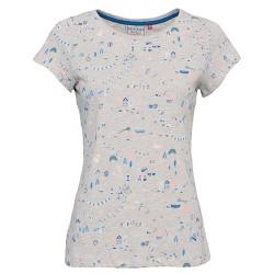 dámské tričko potisk béžový melír BRAKEBURN