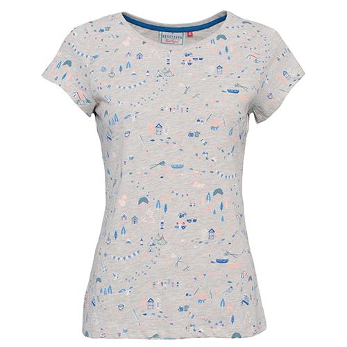 a3149a3b2271 dámské tričko potisk béžový melír BRAKEBURN