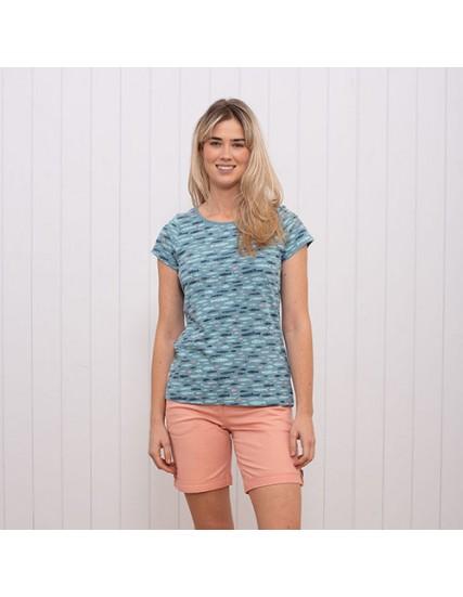dámské tričko potisk ryby modré BRAKEBURN
