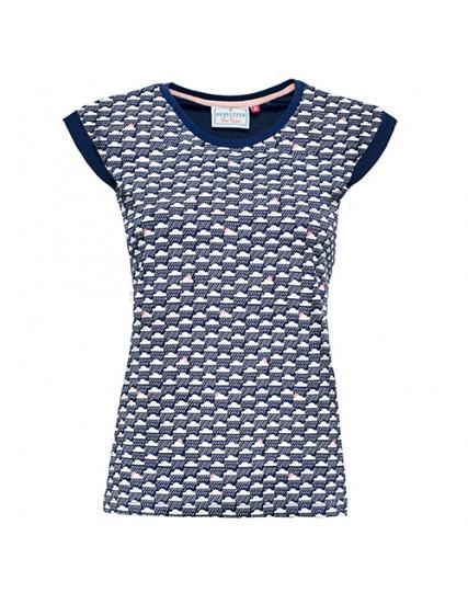 dámské tričko s mraky modré BRAKEBURN