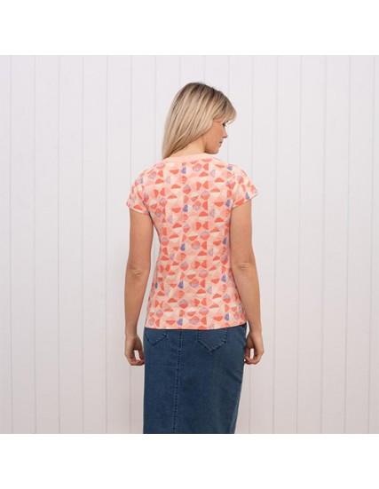 dámské triko s potiskem mušlí BRAKEBURN