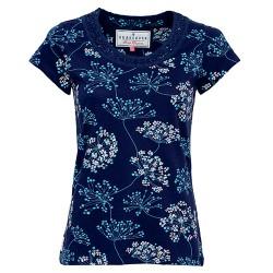 dámské triko květované modré BRAKEBURN
