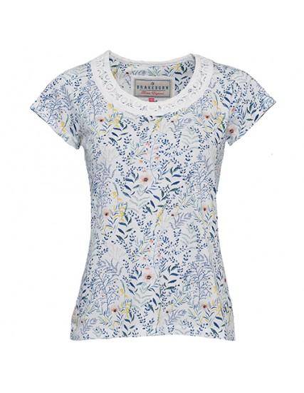 dámské triko květované bílé BRAKEBURN