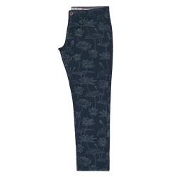 dámské kalhoty motiv lotosu modré BRAKEBURN
