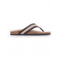 BRAKEBURN STRIPE CANVAS FLIP FLOP