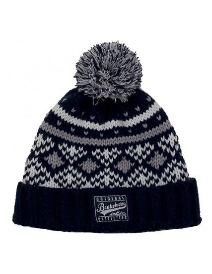 pánská pletená zimní modrá čepice BRAKEBURN