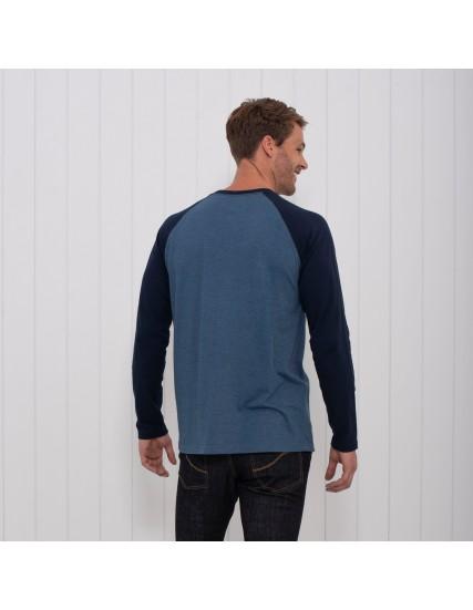 pánské triko s potiskem modré BRAKEBURN