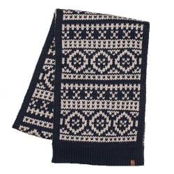 BRAKEBURN CHUNKY FAIRILSE KNIT SCARF