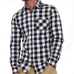 BRAKEBURN LARGE GINGHAM L/SLV SHIRT