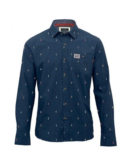 803f602e327 pánská košile s motivem kola modrá BRAKEBURN