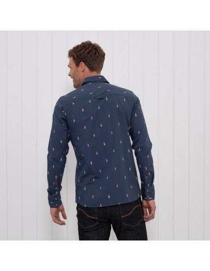 pánská košile s motivem kola modrá BRAKEBURN