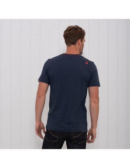pánské tričko s motivem hor modré BRAKEBURN