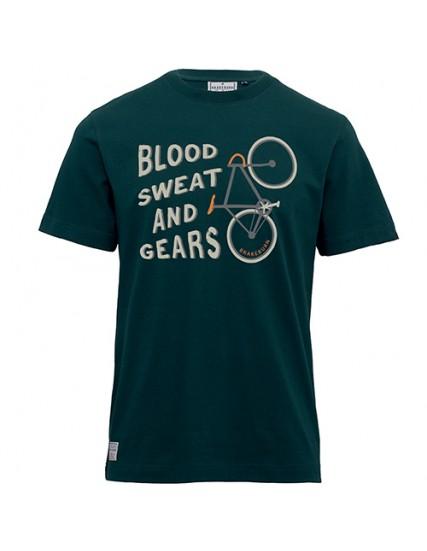 pánské tričko s motivem kola zelené BRAKEBURN