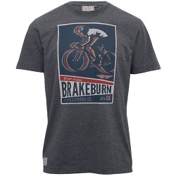 pánské tričko s motivem kola šedé BRAKEBURN