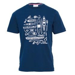 pánské tričko modré potisk lodí BRAKEBURN