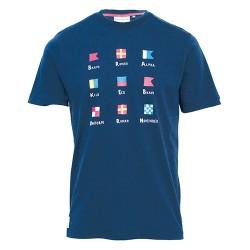 pánské tričko modré potisk námořní BRAKEBURN