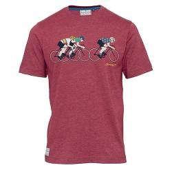 pánské tričko červené potisk kola BRAKEBURN