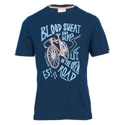 pánské tričko modré potisk kola BRAKEBURN