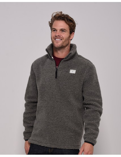 BRAKEBURN MENS QUARTER ZIP FLEECE