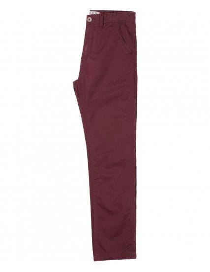 pánské kalhoty chino vínové BRAKEBURN