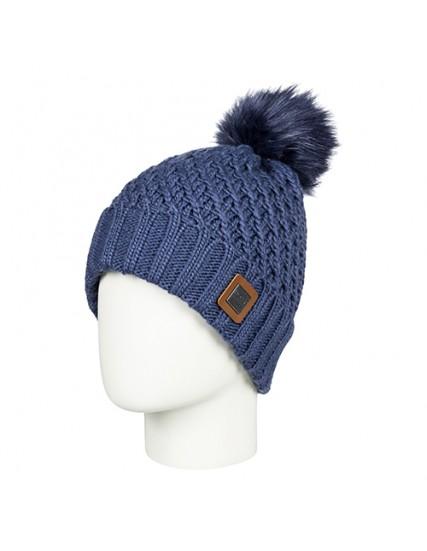 dámská pletená čepice modrá ROXY BLIZZARD BEANIE
