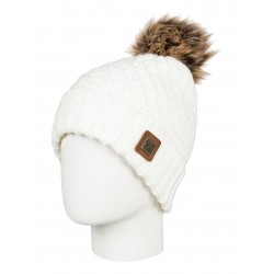 dámská pletená čepice bílá ROXY BLIZZARD BEANIE