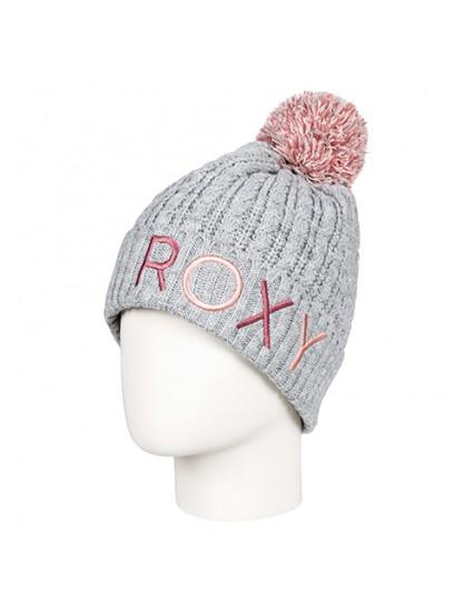 dámská pletená čepice šedá ROXY FJORD BEANIE