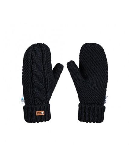 dámské pletené rukavice černé ROXY WINTER MITTENS
